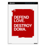DEFIENDA EL AMOR DESTRUYEN DOMA - .PNG PEGATINA SKIN PARA iPad 3