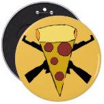 Defienda el perno punky de la pizza del estallido pin redondo 15 cm