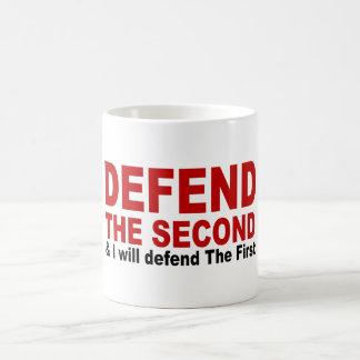 Defienda el segundo tazas