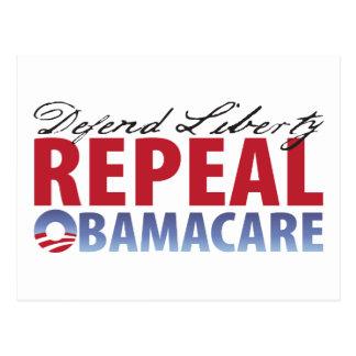 Defienda la atención sanitaria de la derogación de tarjeta postal