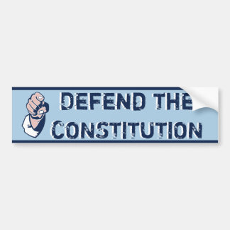 Defienda la constitución pegatina de parachoque