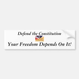 Defienda la constitución pegatina para auto