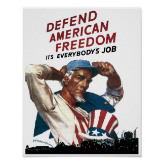 Defienda la libertad americana impresiones