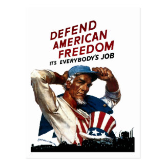 Defienda la libertad americana postal
