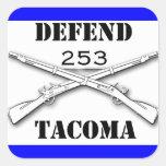 Defienda Tacoma Calcomania Cuadradas Personalizadas