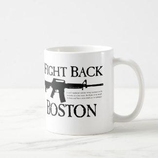 ¡DEFIÉNDASE BOSTON! TAZAS DE CAFÉ