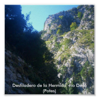 Defile of the Hermida - river Must Potes Posters