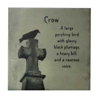 Defina el cuervo azulejo cuadrado pequeño