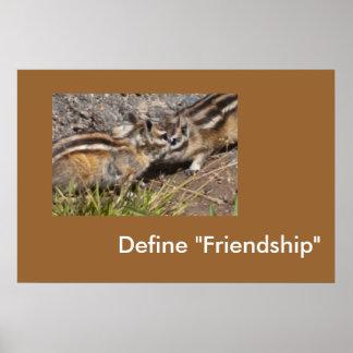 Defina la amistad posters