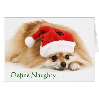 Defina la tarjeta de Navidad traviesa
