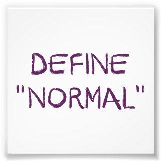 Defina normal impresiones fotograficas