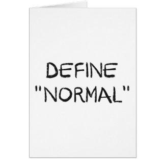 Defina normal tarjetas