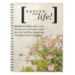 Defina su vida:  Memorias Libros De Apuntes