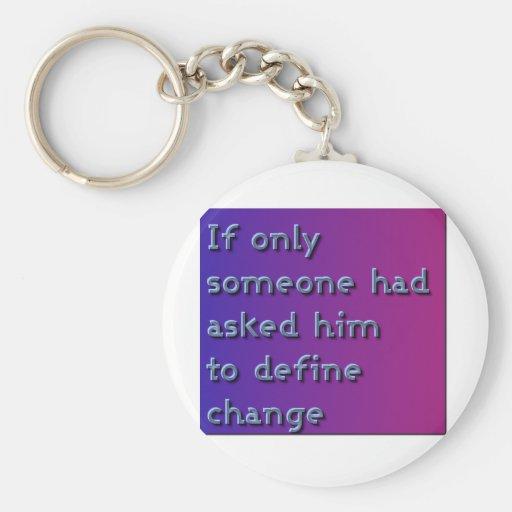 Define Change Keychain