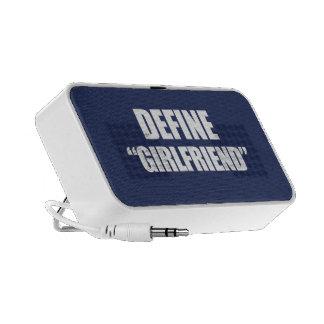 DEFINE GIRLFRIEND MP3 SPEAKERS