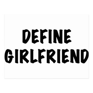 Define Girlfriend Postcard