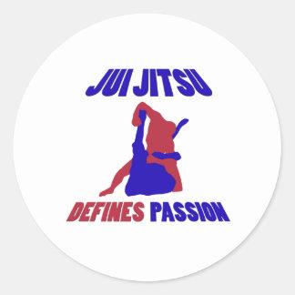 define jitsu brasileño del jiu etiqueta redonda