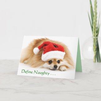 Define Naughty Christmas card card