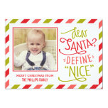 Define Nice Christmas Photo Card Custom Invitations