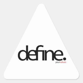 Define Series Triangle Sticker