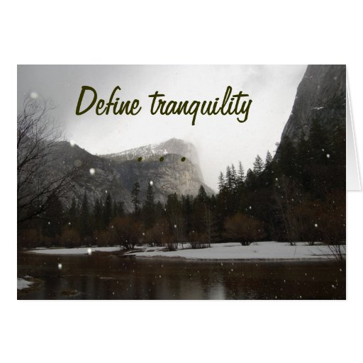 Define Tranquility Greeting Card