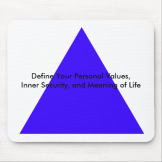 Define Your Personal Values, Inner Security Gifts Mouse Pad