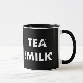 Define Your Tastes: Black Coffee Tea with Milk Mug