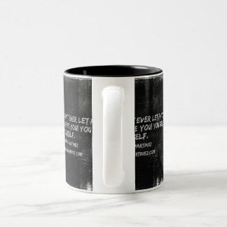 Define Yourself! Two-Tone Coffee Mug