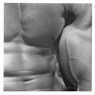 Defined abdomen and bicep ceramic tile