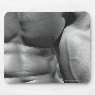 Defined abdomen and bicep mouse pad