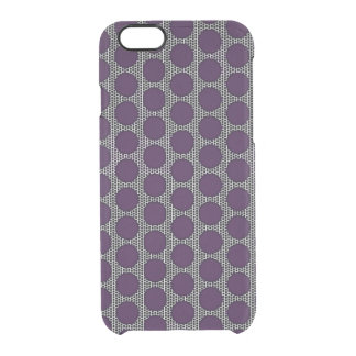 Defined Purple Dot Deflector Clear iPhone 6/6S Case