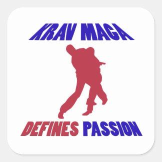 defines krav maga square sticker