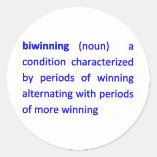 Definición BI-Que gana Pegatina Redonda