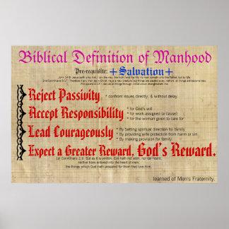 Definición bíblica de la edad viril póster
