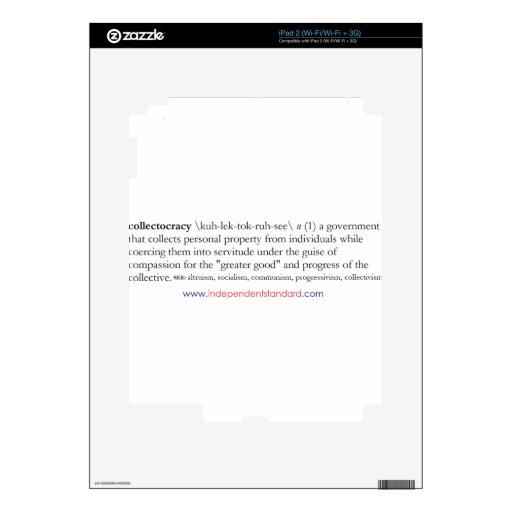 Definición de Collectocracy iPad 2 Calcomanía