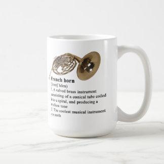 Definición de diccionario de la trompa taza de café