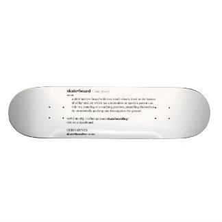 Definición de diccionario del monopatín patines