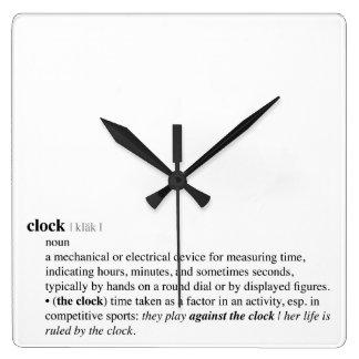 Definición de diccionario del reloj