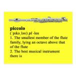 Definición de flautín postales