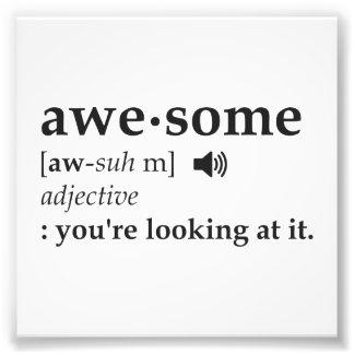 Definición de impresionante usted la está mirando fotografía