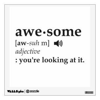 Definición de impresionante usted la está mirando vinilo adhesivo