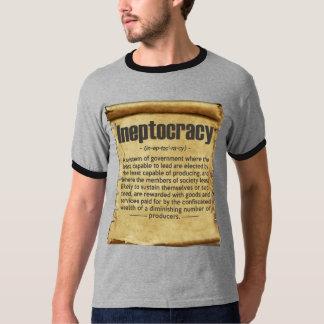 Definición de Ineptocracy del vintage Playeras