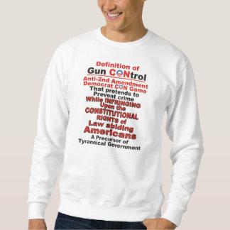 Definición de la camiseta del control de armas pulover sudadera
