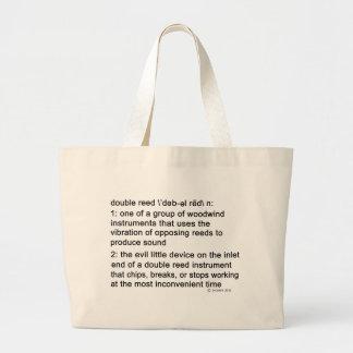 Definición de la caña doble bolsa de tela grande