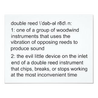 Definición de la caña doble invitación 10,8 x 13,9 cm