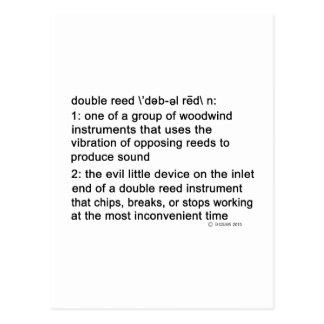 Definición de la caña doble postal