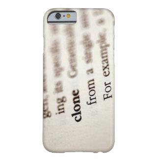 Definición de la copia funda de iPhone 6 barely there