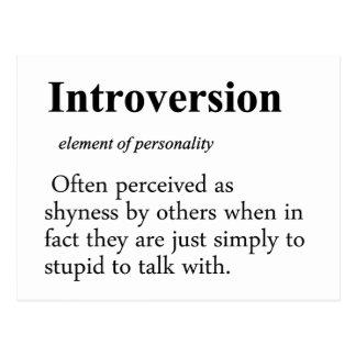 Definición de la introversión tarjeta postal