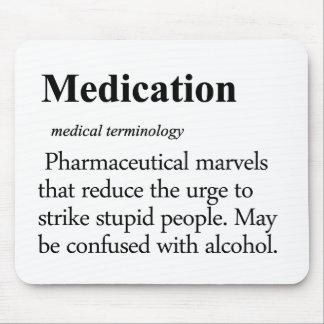 Definición de la medicación alfombrilla de ratones