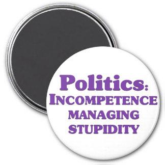 Definición de la política imán redondo 7 cm